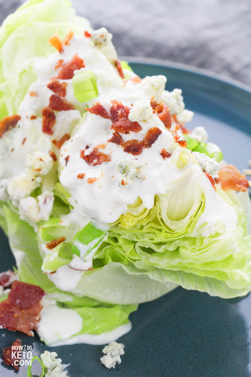 homemade keto wedge salad