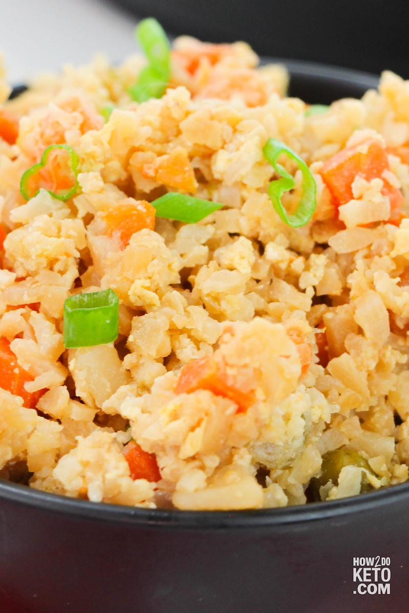 Cauliflower Fried Rice close up