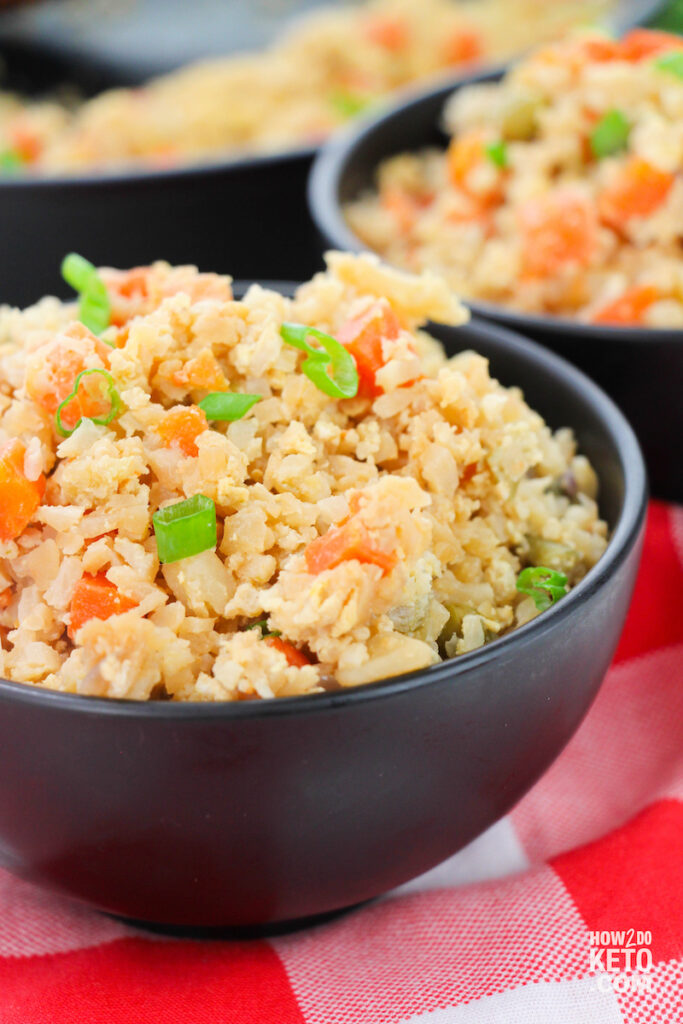 bowl of fried keto rice
