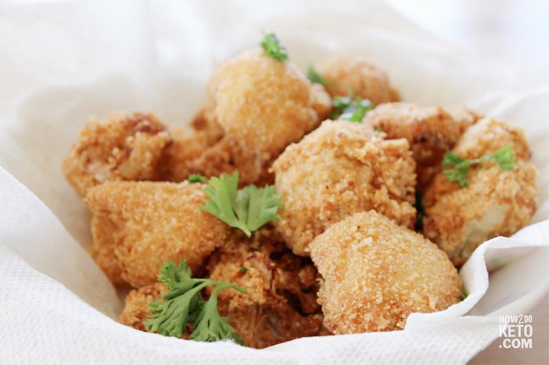 Freshly fried Keto Bang Bang Cauliflower