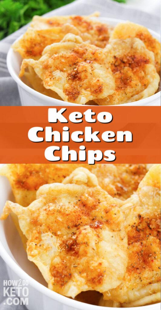 crispy baked chicken skin chips