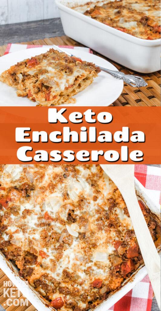Keto Enchilada Casserole in pan