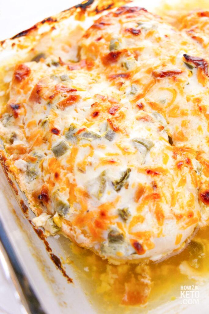 Keto Jalapeño Popper Chicken finished