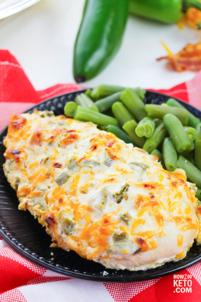 baked jalapeño chicken with cheesy coating