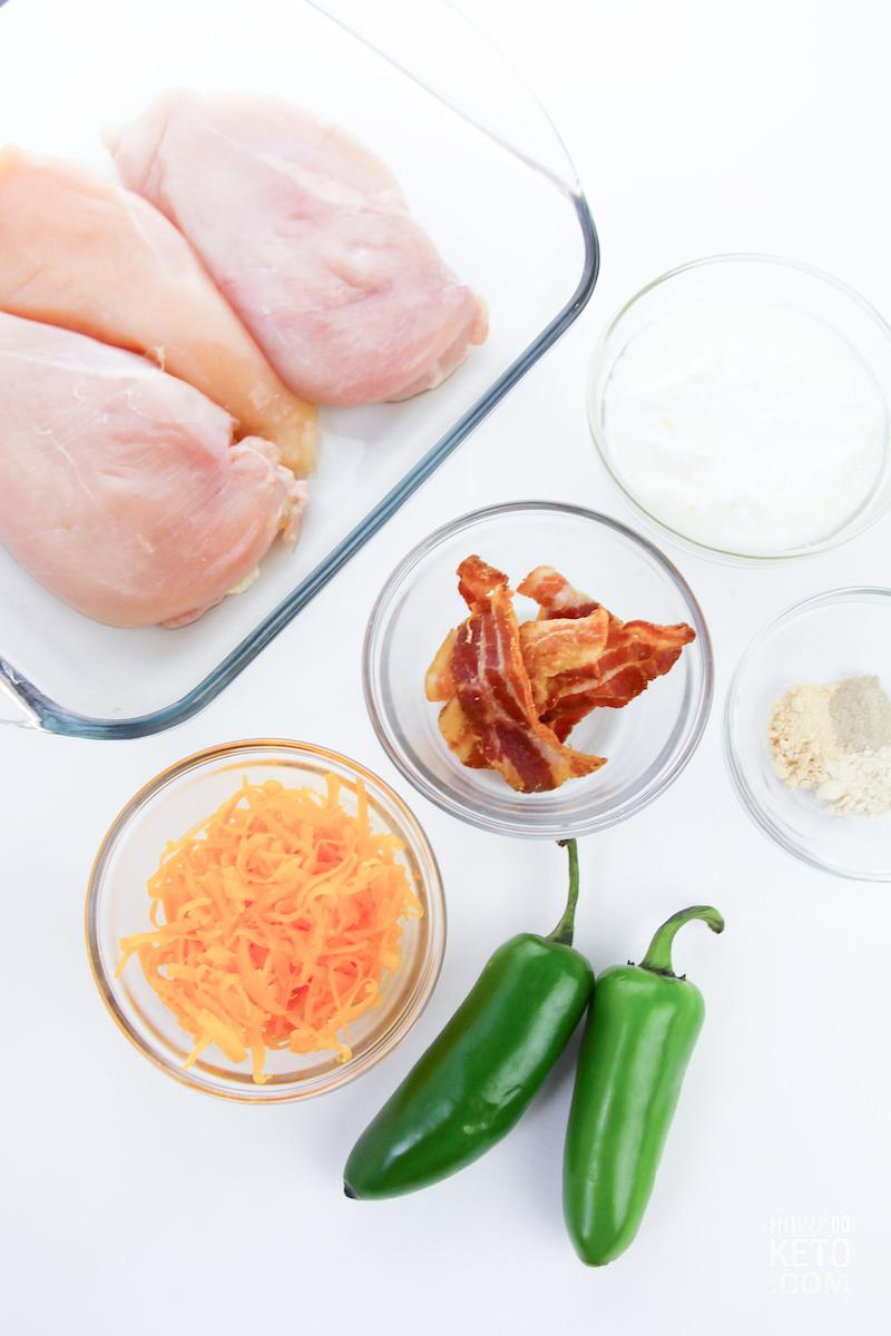 Keto Jalapeño Popper Chicken ingredients