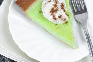 A slice of Keto Key Lime Pie