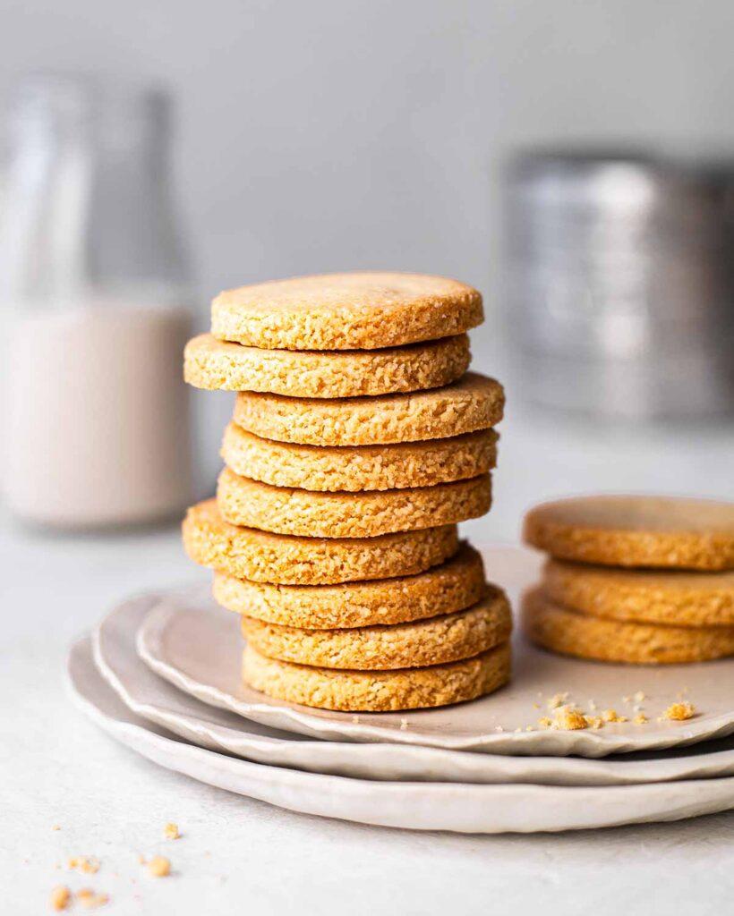 stack of shortbread cookies