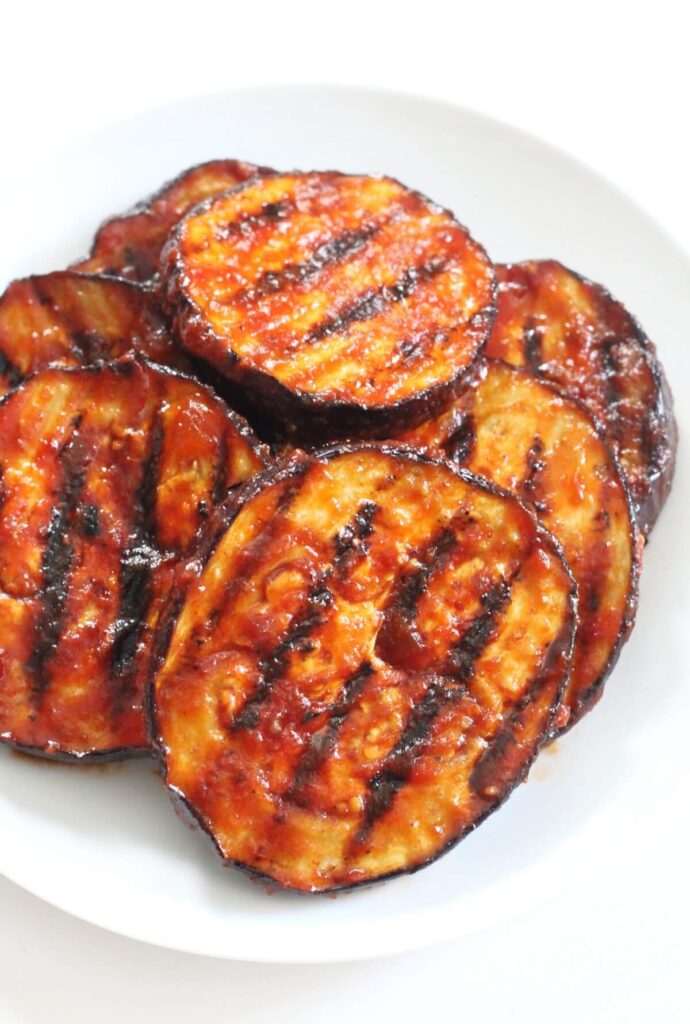 BBQ grilled eggplant slices