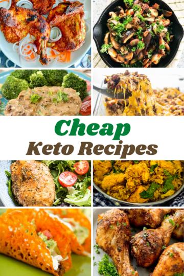 Cheap Keto Recipes collage of recipe photos
