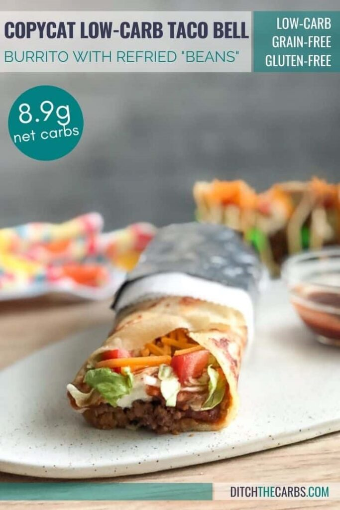 low carb version of a Taco Bell burrito