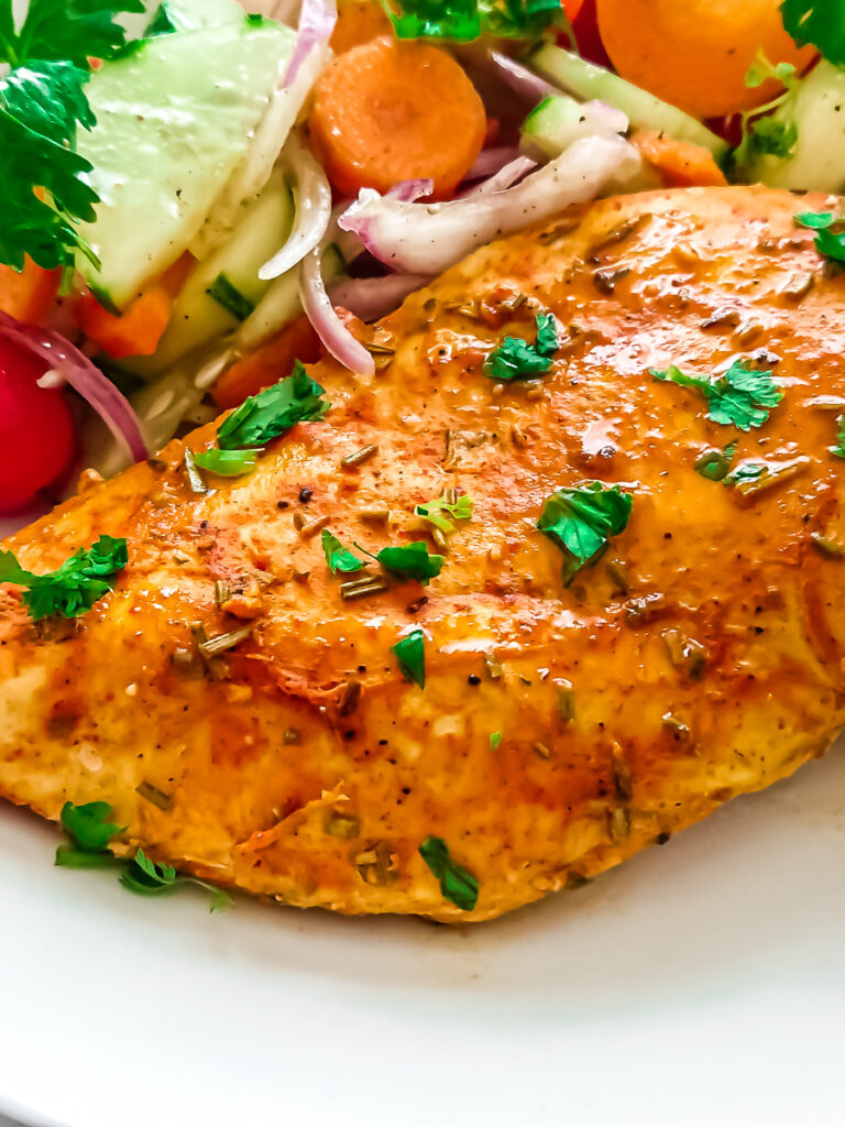 baked chicken breast with seasoning