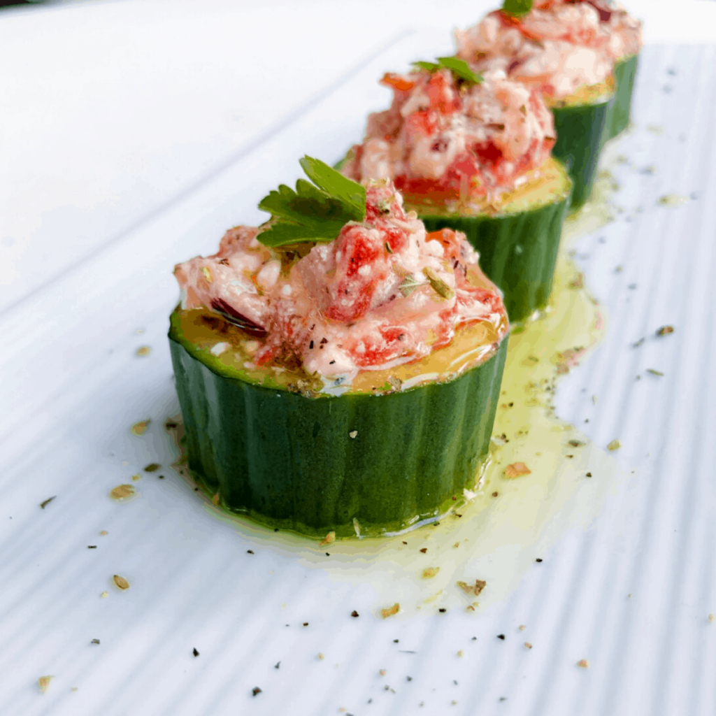 cucumbers filled with veggies