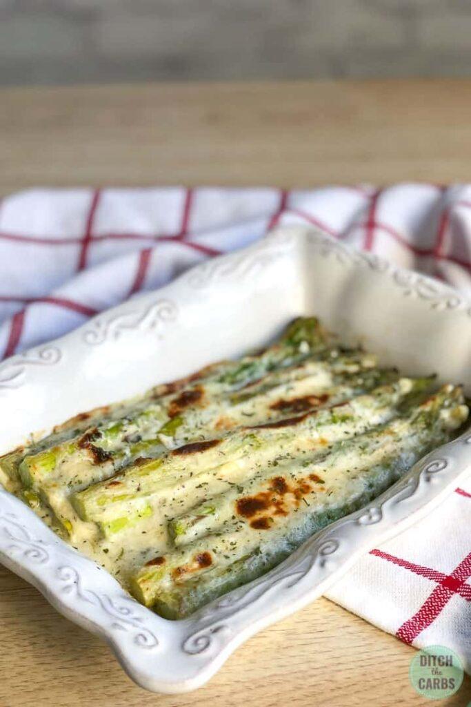 creamy baked asparagus