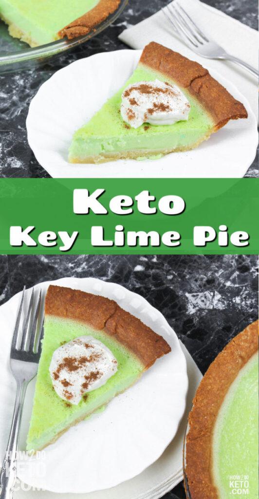 Keto Key Lime Pie Pinterest Image