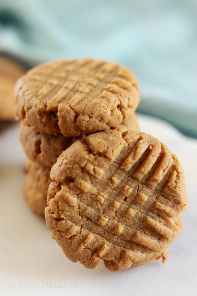 close up of peanut butter cookies