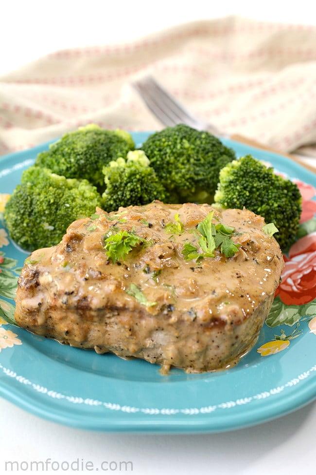 pork chop in low carb gravy