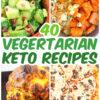 collage of vegetarian keto recipes