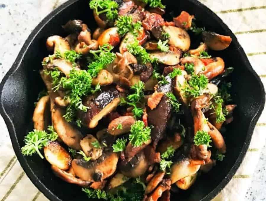 mushroom bacon skillet