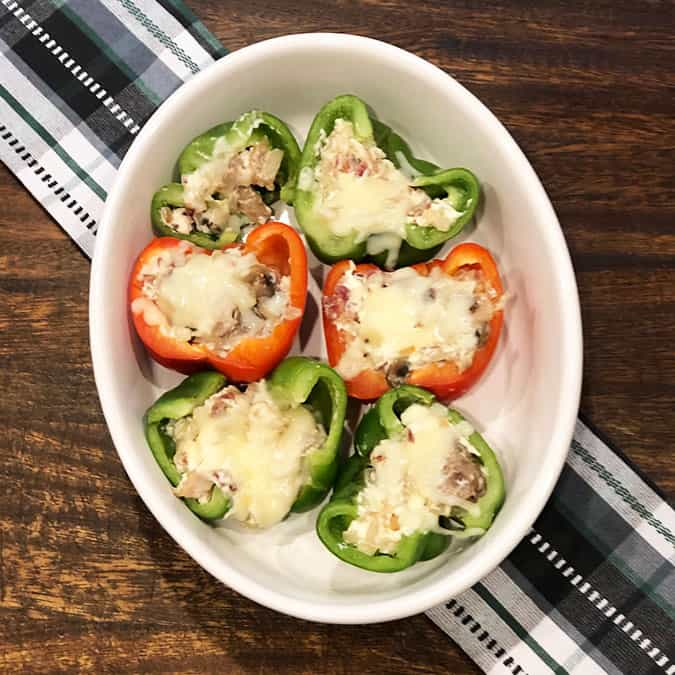peppers stuffed with meat and cheese