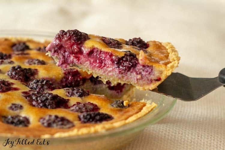 low carb blackberry pie