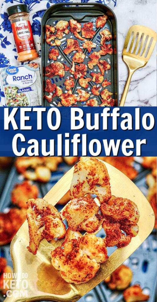 Air Fryer Keto Buffalo Cauliflower