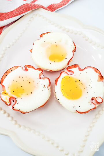 low carb muffins made with ham, egg, and cheese