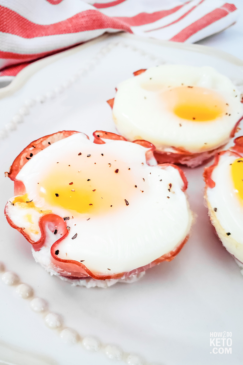 Keto Ham and Egg Cups