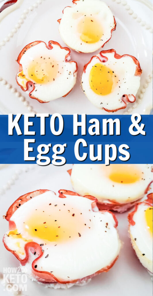 Keto Ham and Egg Cups Pinterest Image