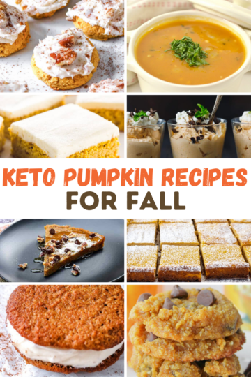 collage of Keto Pumpkin Recipes for Fall