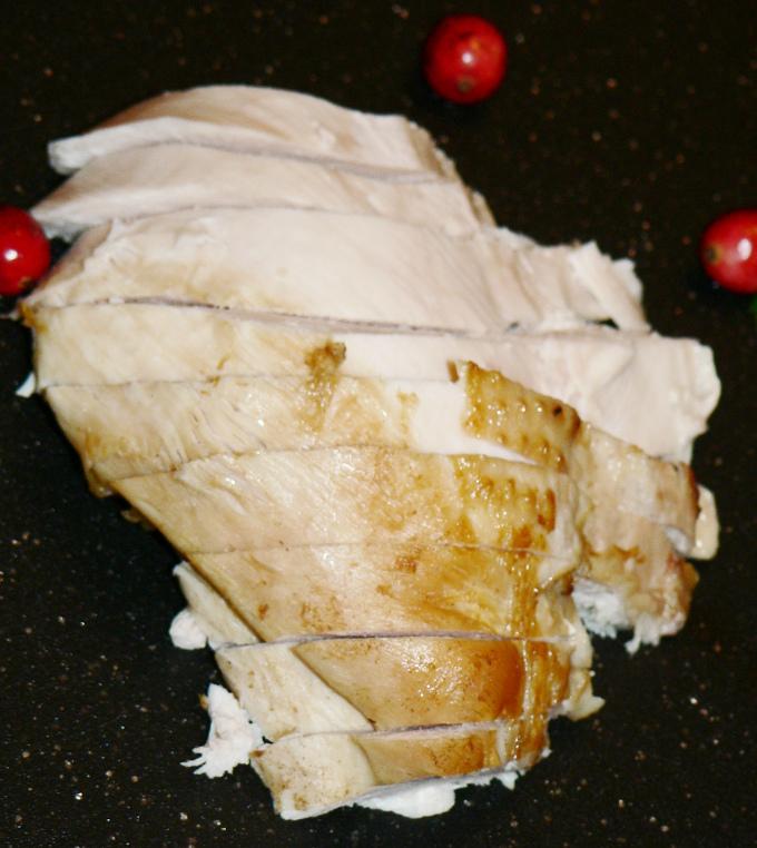 sliced turkey breast made in Instant Pot