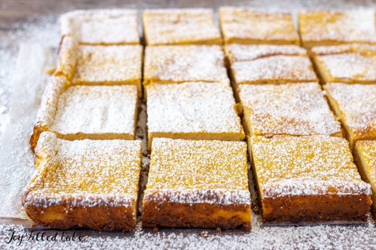 low carb pumpkin cheesecake bars